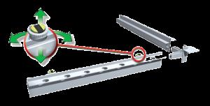 Výškovo nastaviteľný magnet so závitom